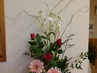 今日の花 バラ ガーベラ 南天 ヤナギ ストック