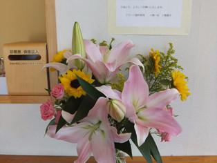今日の花 Spバラ、オリエンタルリリー、ヒマワリ