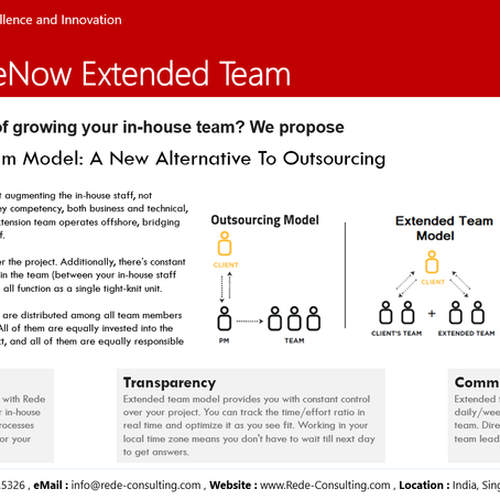 Rede help build your Extended ServiceNow Team - A variable and flexible resource model.
