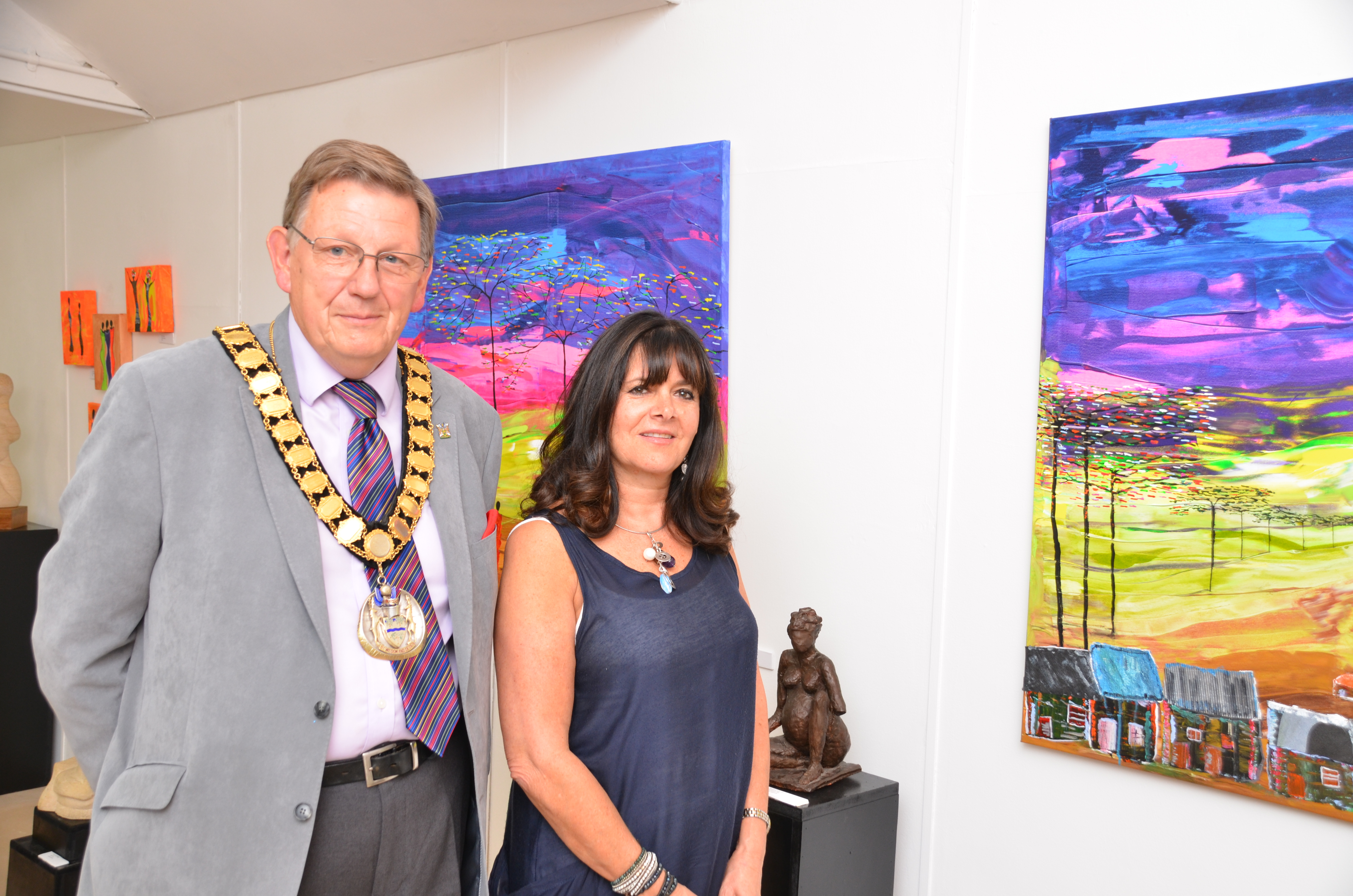 Mayor Les Page and Linda