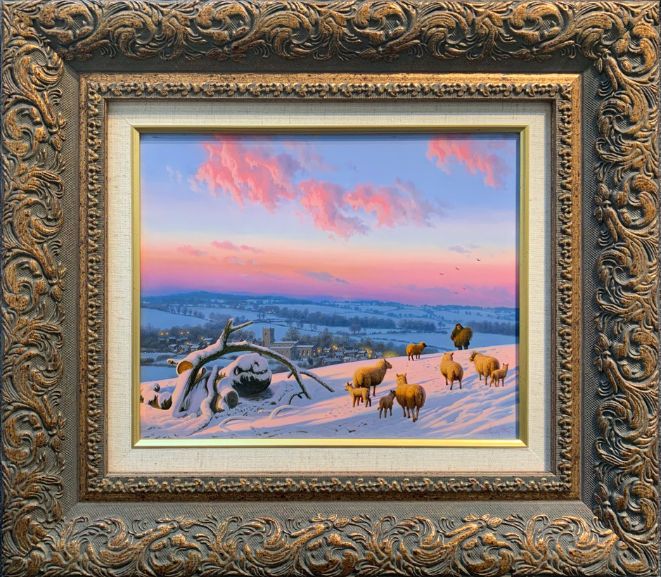 """Winter Sunset on Everon Hills"""