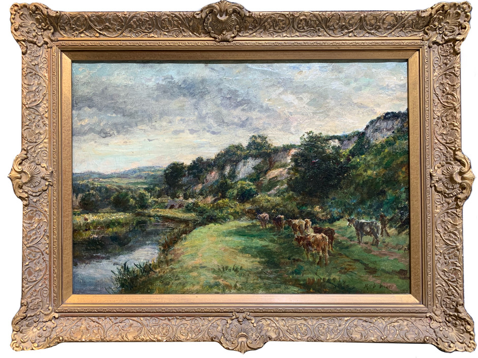 """Cows by the River"""