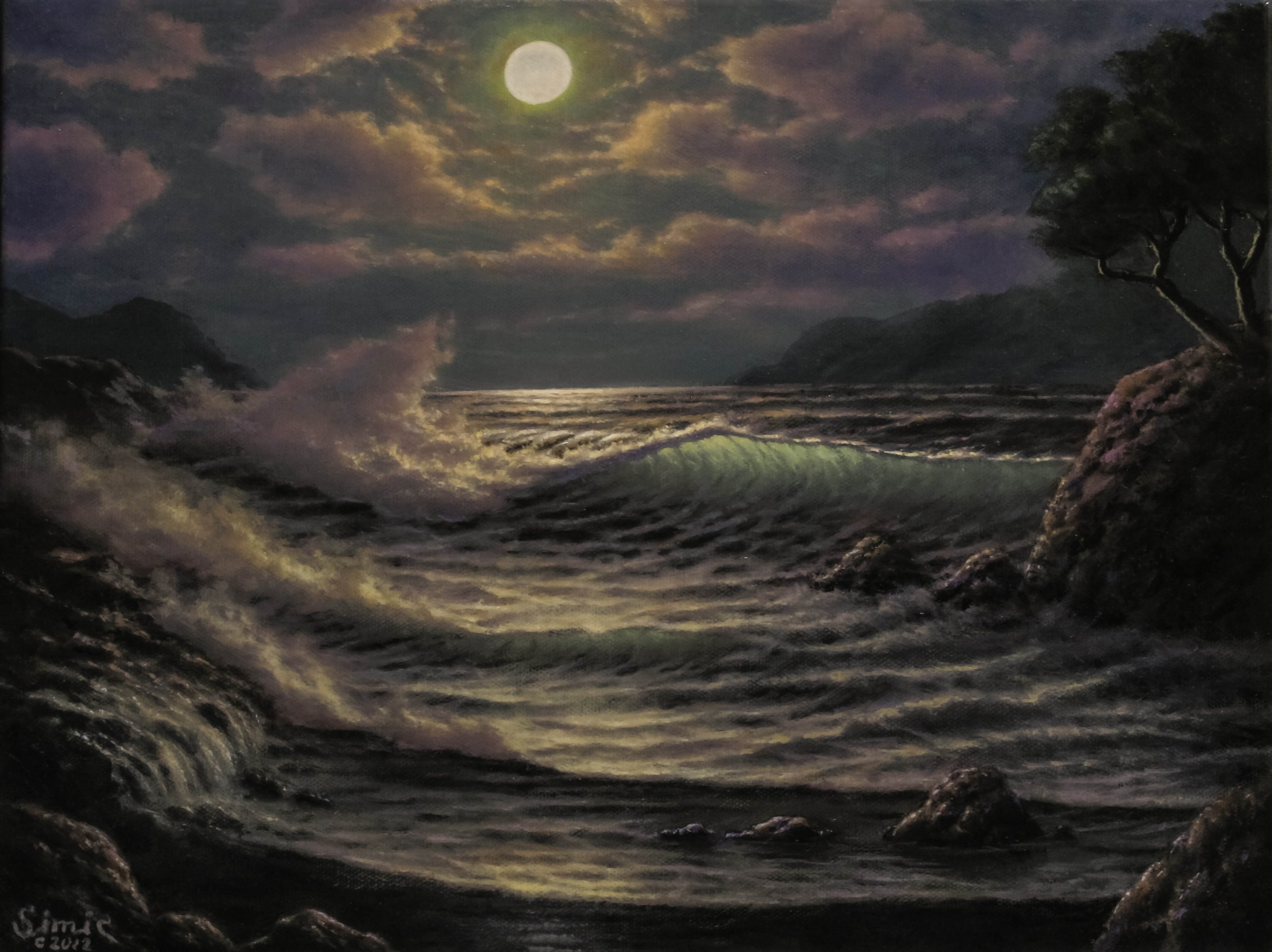 Full Moon Tide 12x16A
