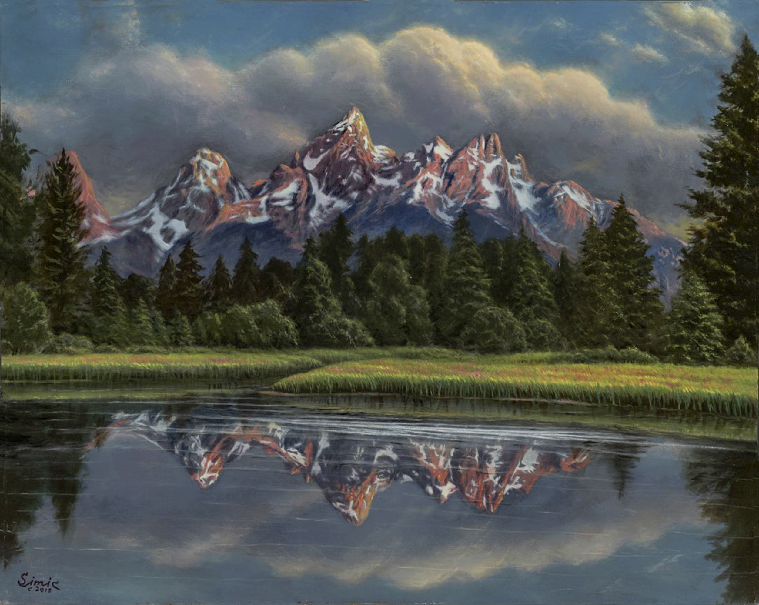 Grand Tetons Splenor 24x30 15 8 bit