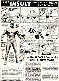 atlas vintage muscle building ad comic personal trainer singapore