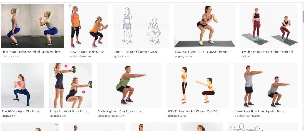 Every exerciser's doing half squat