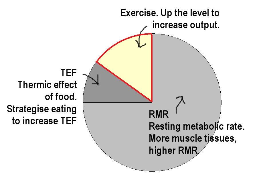 Do NEAT + HIIT to maximise calories output.