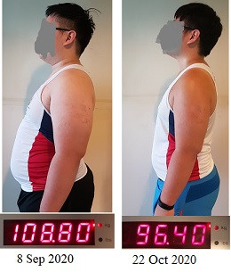 How This Client Lost 12kg of Weight (15 kg Fat) in 6 Weeks with Science!!