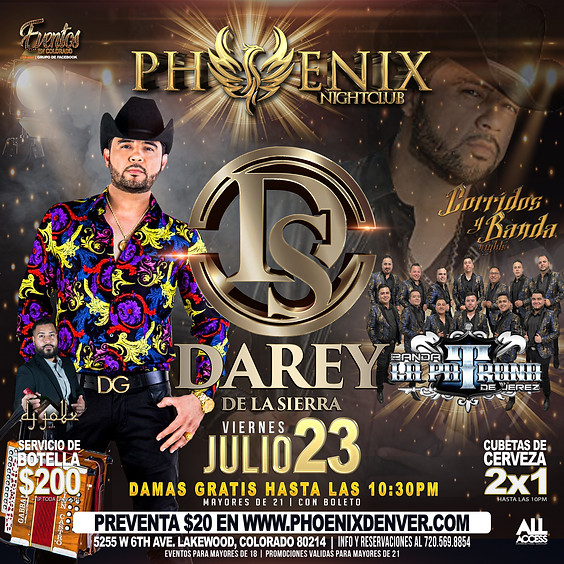 Darey de la Sierra   Corridos y Banda Nights