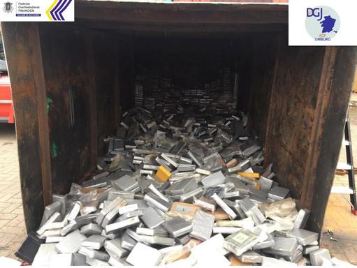 Antwerpia : Służba celna i policja federalna przechwyciły 11,5 tony kokainy