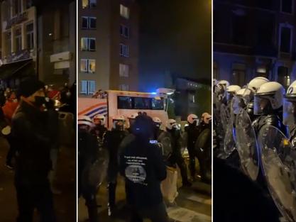Demonstracja w Liege : 350 aresztowań i siedmiu rannych