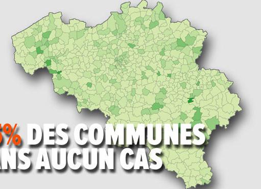 Koronawirus w Belgii: W ciągu ostatnich 7 dni, w 375 z 581 gmin, nie odnotowano przypadków Covid-19