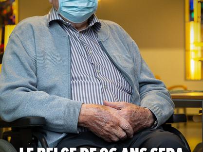Jos Hermans, lat 96, pierwszy zaszczepiony Belg