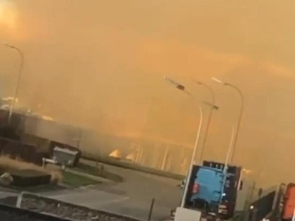 Eksplozja w Tamise we Flandrii: ogłuszający hałas, dym widoczny z odległości kilku kilometrów