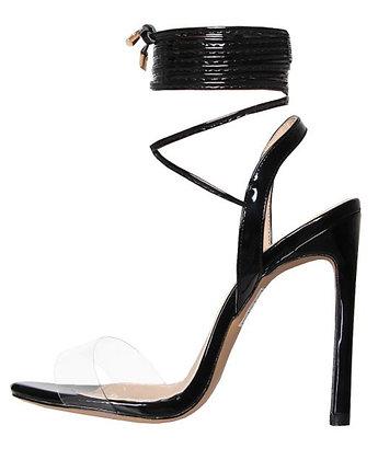 Ella Clear Lace Up Heels