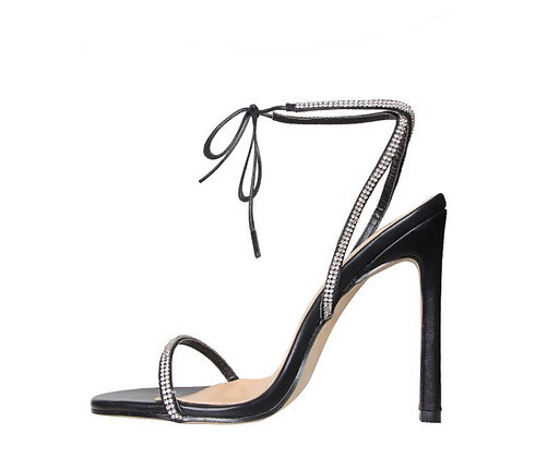 Korra Diamante Lace Up Heels