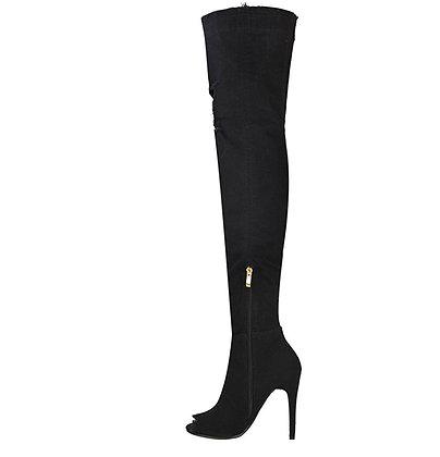 Fiona Stretch Denim Boots