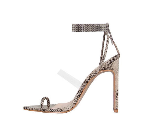 Yanny Lace Up Square Toe Heels