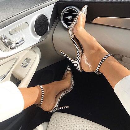 Icon Perspex Zebra Heels