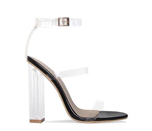 Darcia Clear Strap Heels