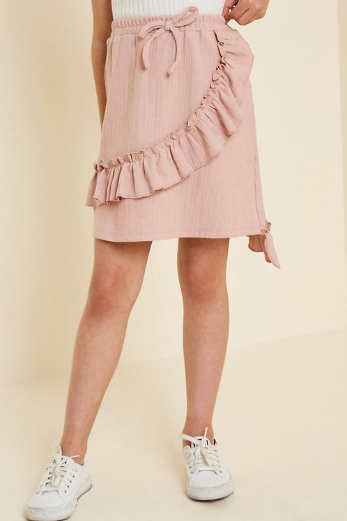 Drawstring Ruffle Skirt