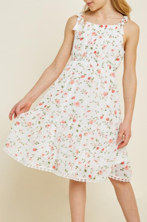 White Floral Babydoll Dress