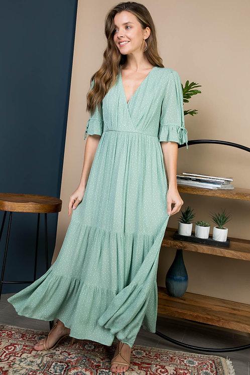 Mint PolkaDot Maxi Dress