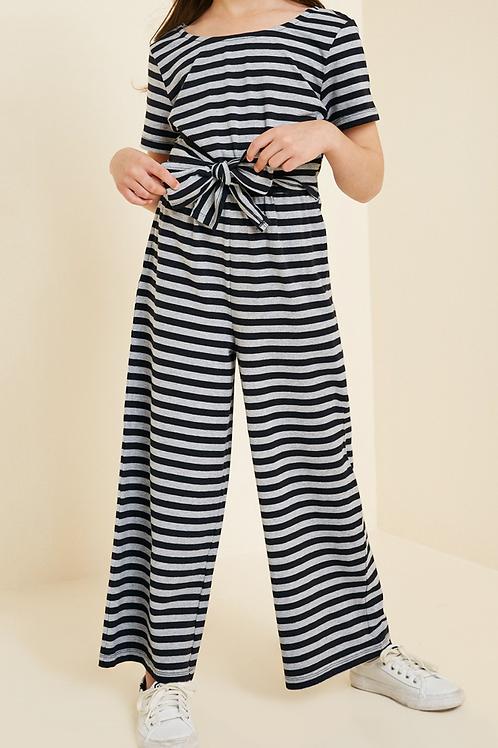 Stripe Bow-Tie Jumper