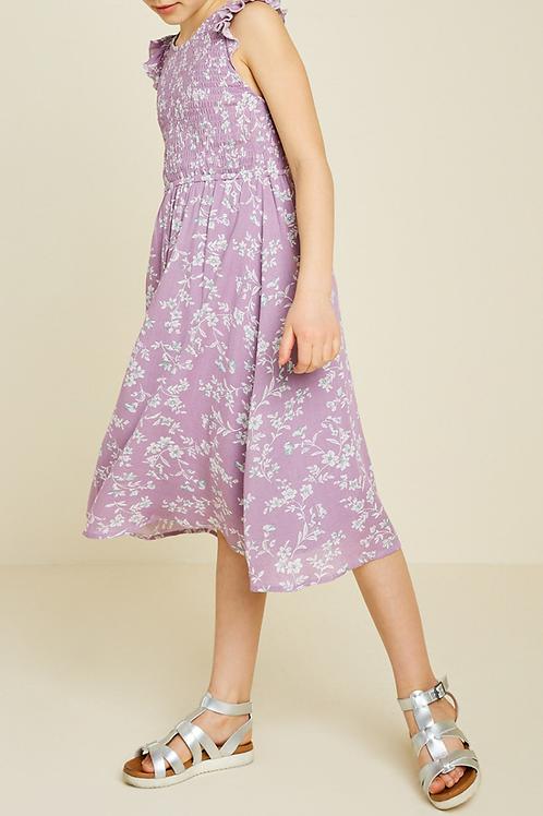Floral Smocked Midi Dress