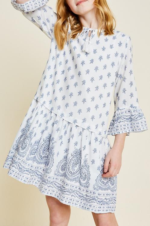 Paisley Bell Sleeve Dress
