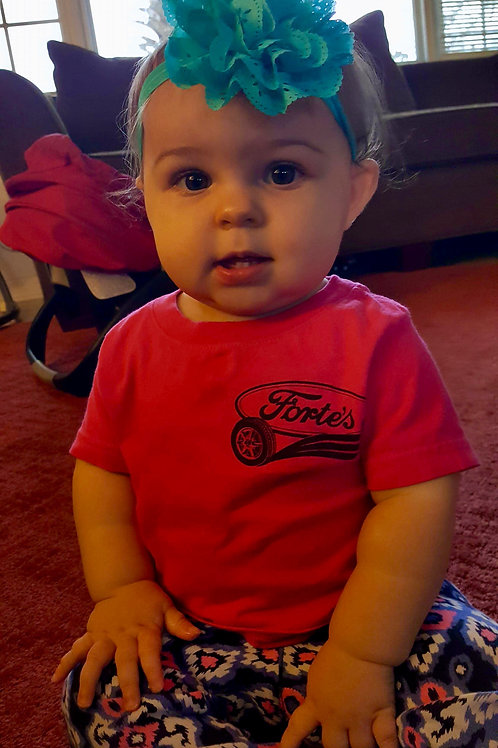 Forte's Classic Garage - Baby's Pink T-Shirt