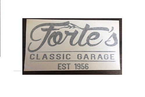 Forte's Classic Garage - Black Sticker