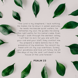 Psalm 23: a Psalm for the parched