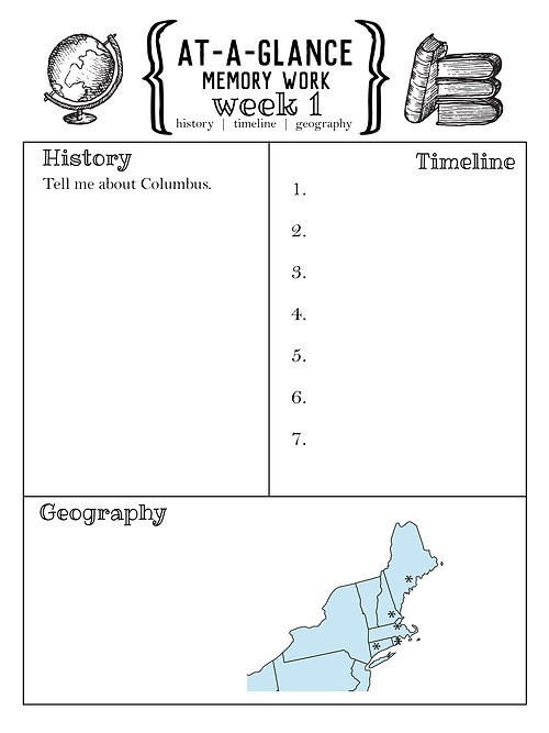 week 4 memory worksheet