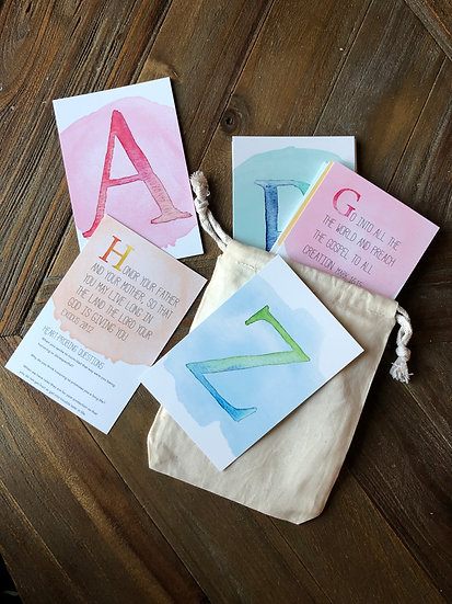 ABC Bible Verse Cards for kids Heart Probing Questions: building godly character