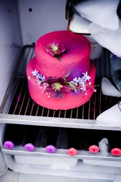 wedding cake rose fuschia