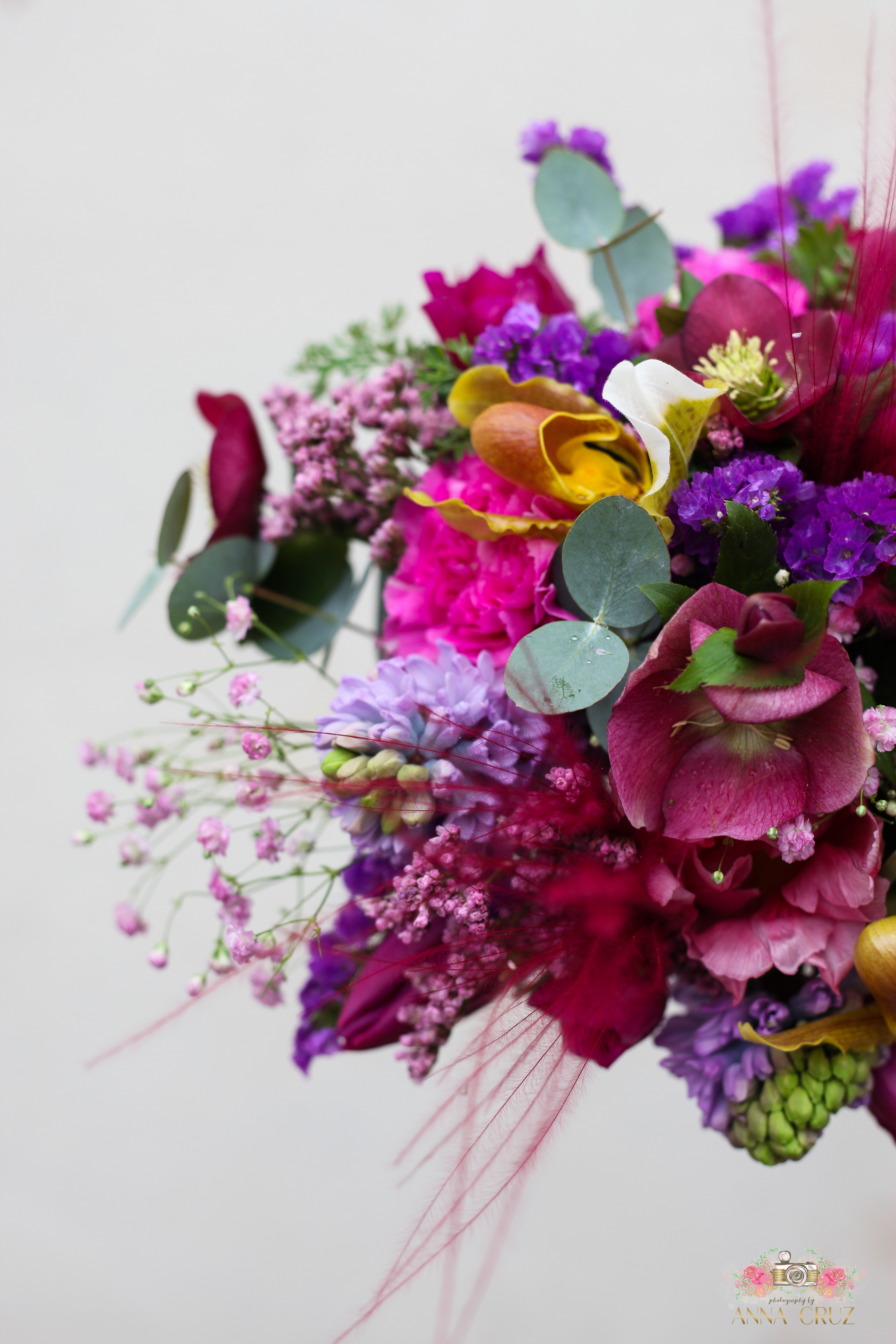 bouquet mariage rose fuchsia
