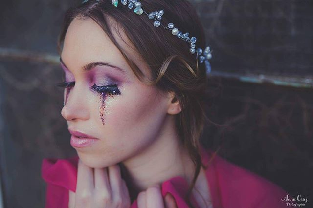 Makeup rose artistique
