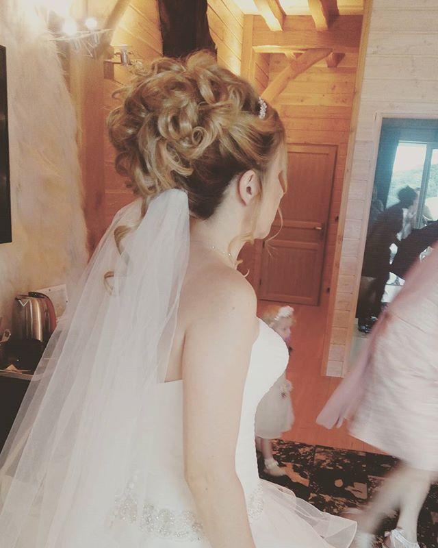 Et voilà le jour J !! chignon de princesse by Anna Cruz #2 #coiffureprincesse #mariage #wedding #hai