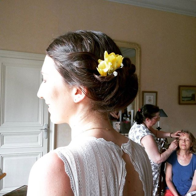 Chignon mariage #wedding #mariage #chignonmariage #chignon #annacruz #haircutmakeup #maquillage #mak