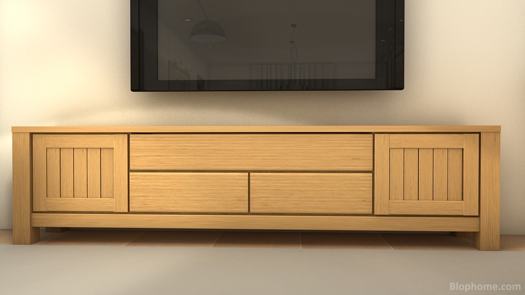 Mueble TV roble