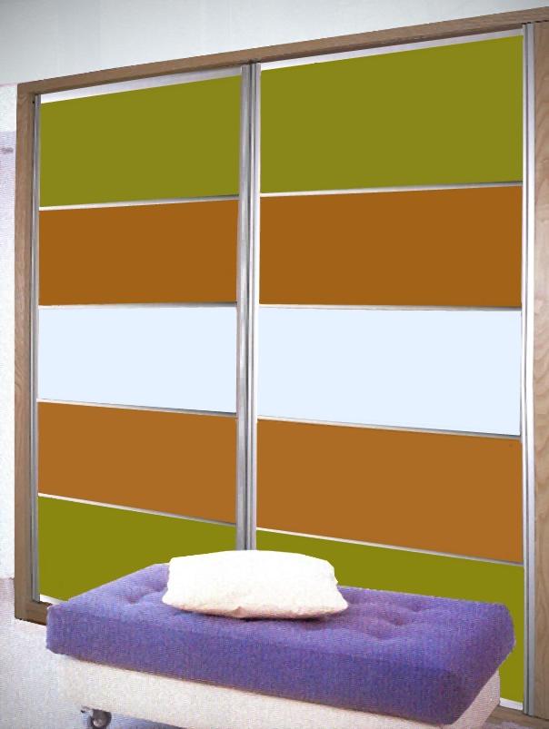 Armario puertas vidrio lacado