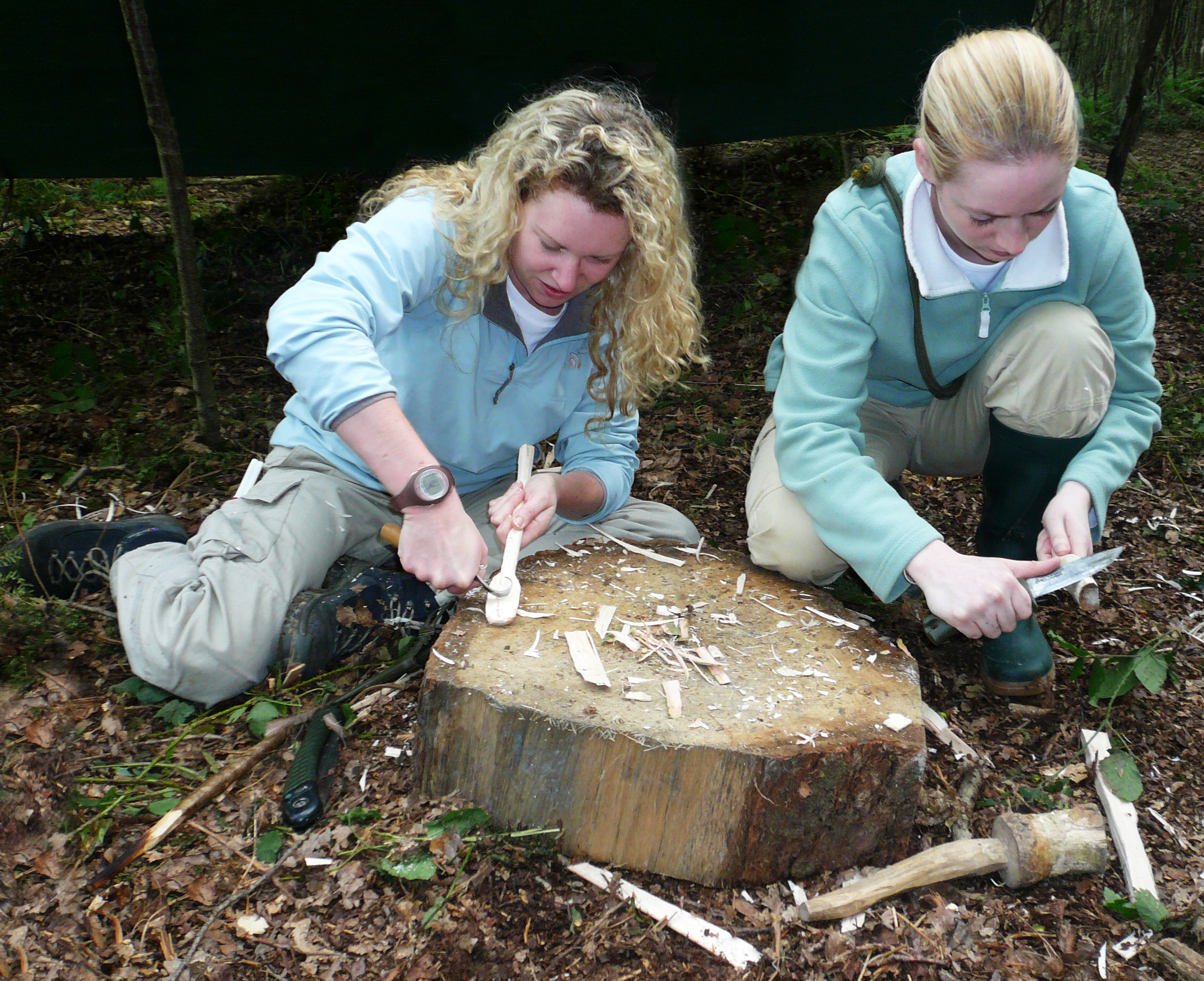 simple wood carving day course