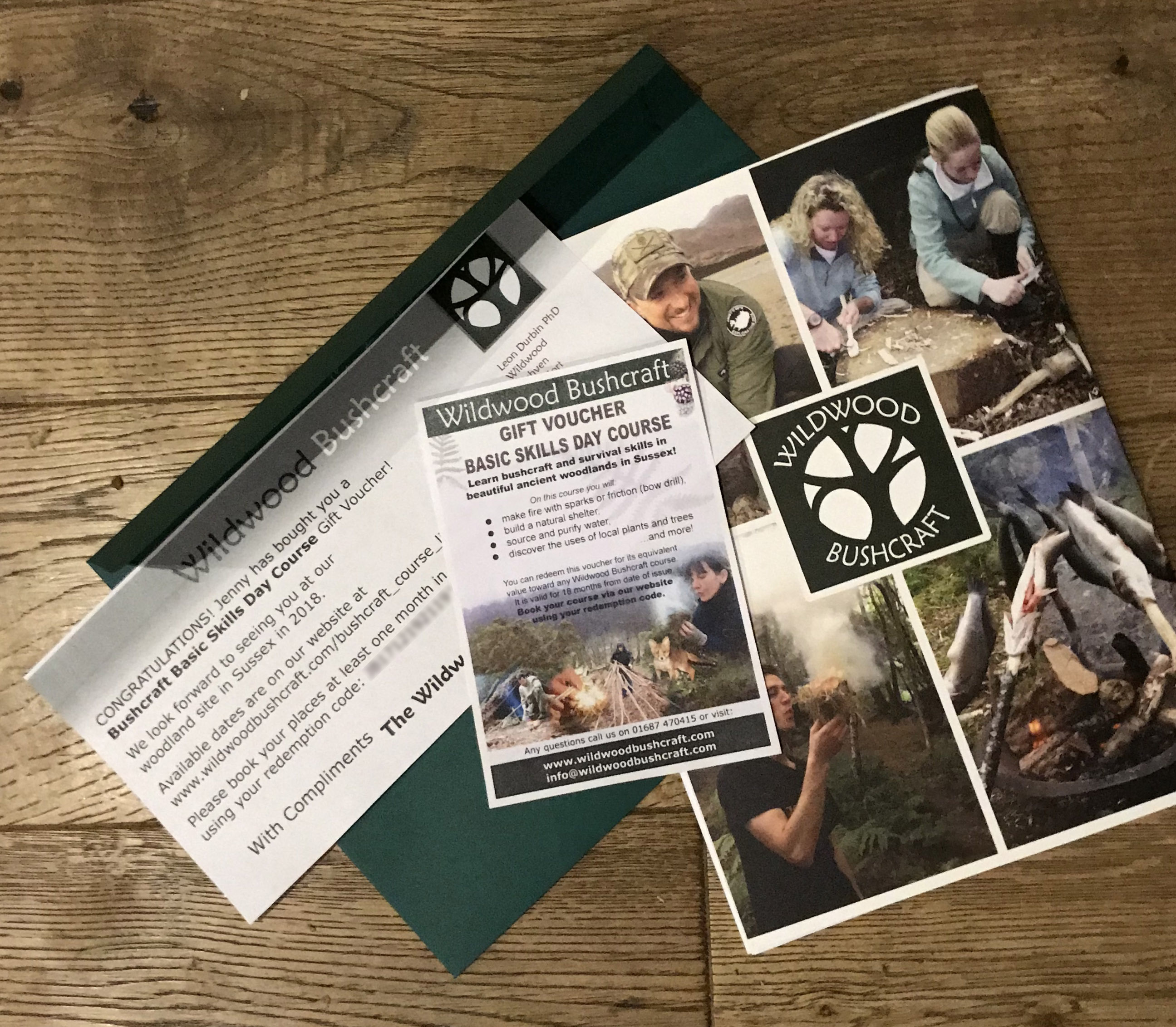 Bushcraft Gift Voucher Pack