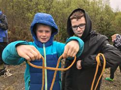 Knotwork bushcraft school session