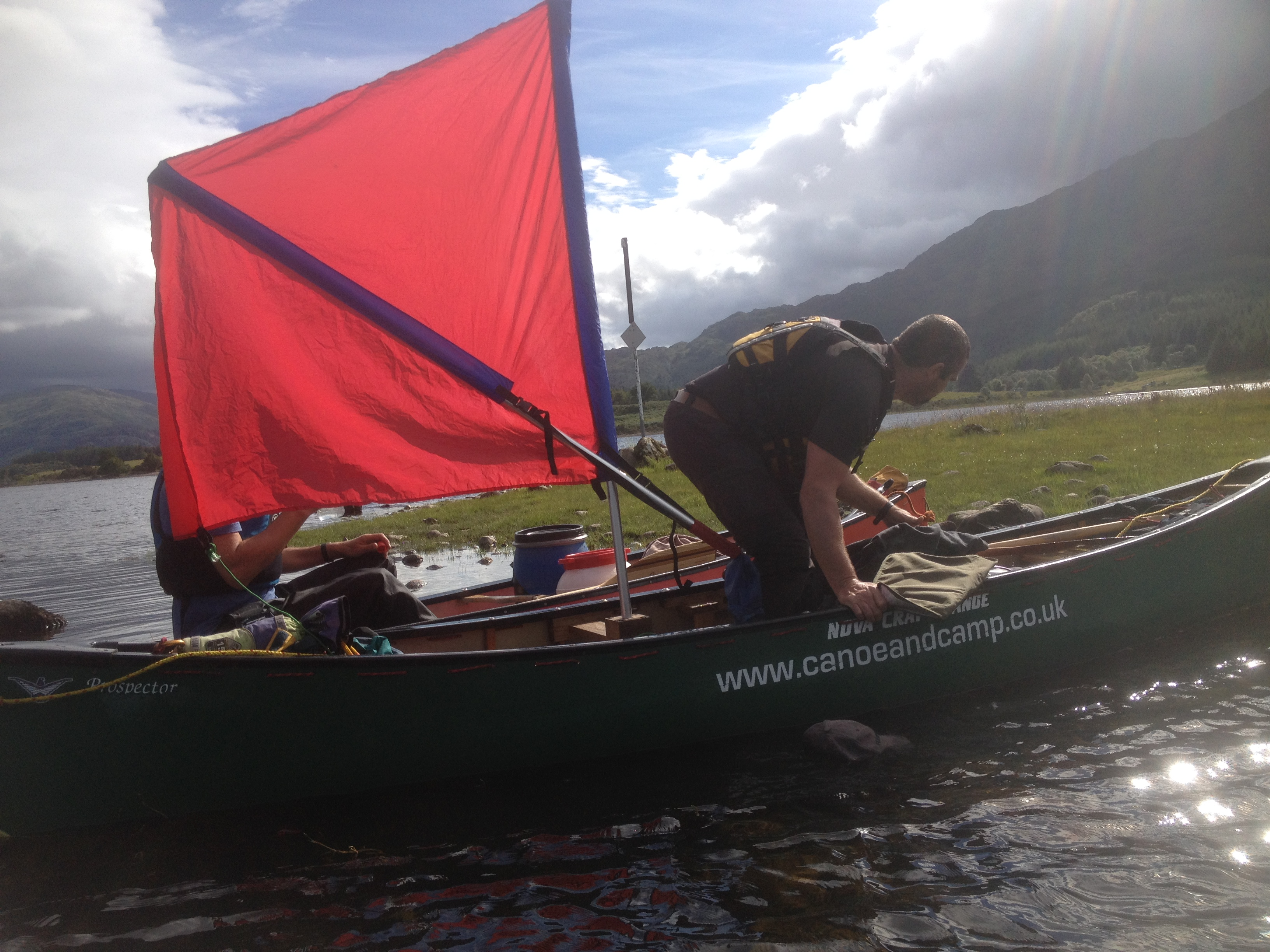 Loch Shiel canoe expedition, sailing