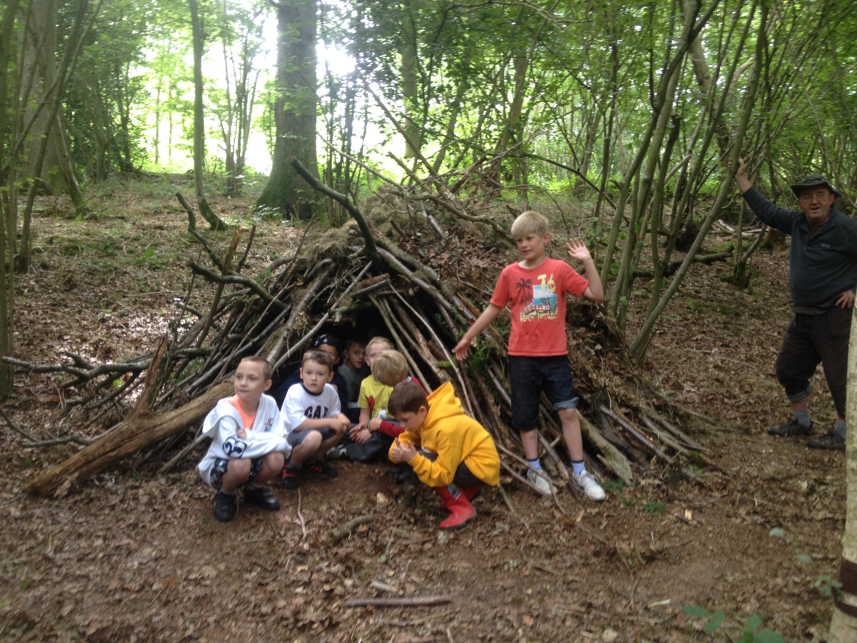 Family bushcraft woodland day out