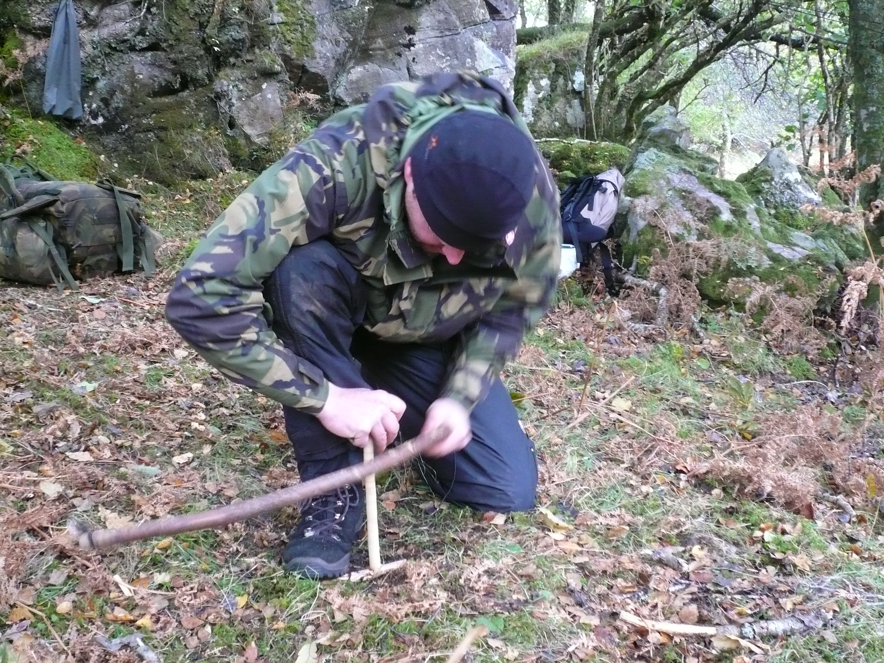 Practise the bow drill technique