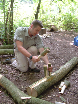 Axe craft and wood carving course UK