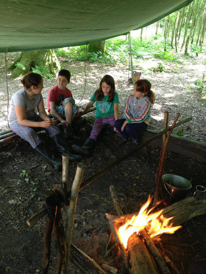 Family bushcraft day course Sussex